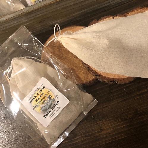 Herbal drawer or closet sachet