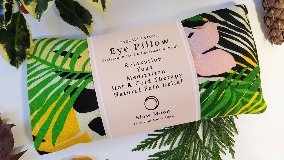 Heated/Cooled Eye Pillow - removable cover - Tropics