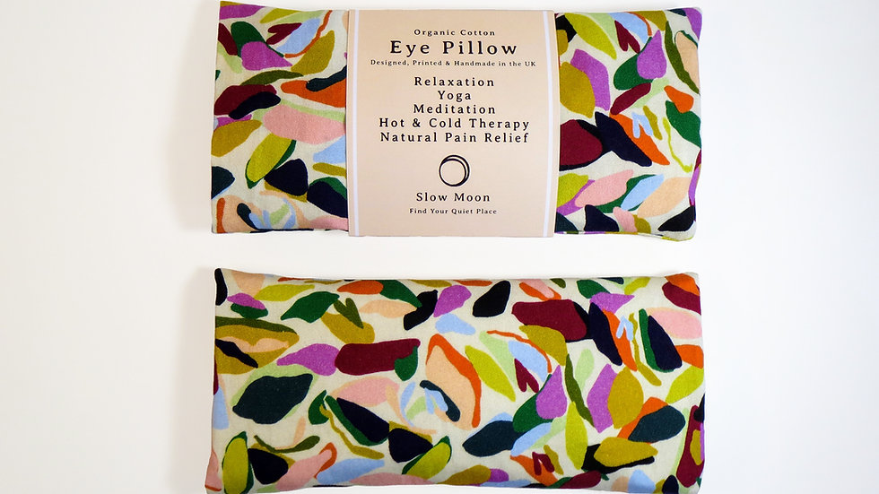 Heated/Cooled Eye Pillow - removable cover - Pebbles
