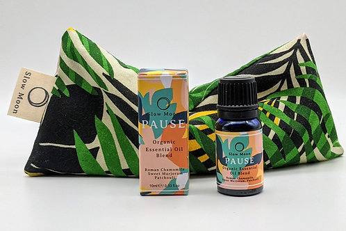 Wellbeing Pack - organic essential oil + any eye pillow