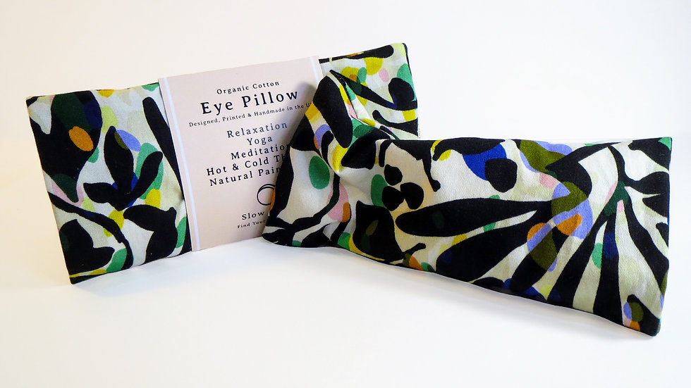 Heated/Cooled Eye Pillow - removable cover - Fronds