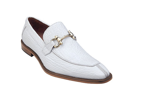 Belvedere Alfio Shark Bit Loafers White