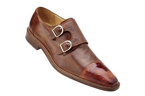 Belvedere Amico Cap Toe Monkstrap Oxford