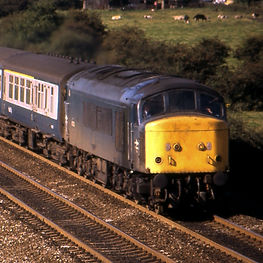 45132 passes Findern 6th September 1985 - John Goodale