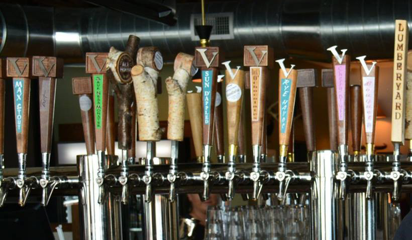 Some of Vintage Brewing tap handles made by Hankscraft AJS