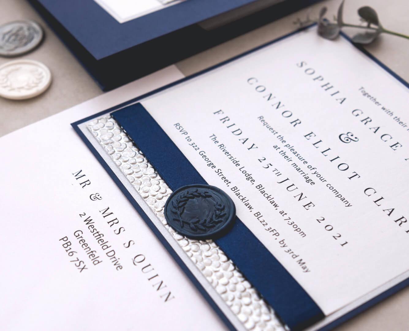 matching handmade luxury evening invitation fife