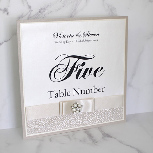 Lindsay Table Number - Sophisticated