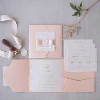 luxury handmade wedding invite with detail card glasgow