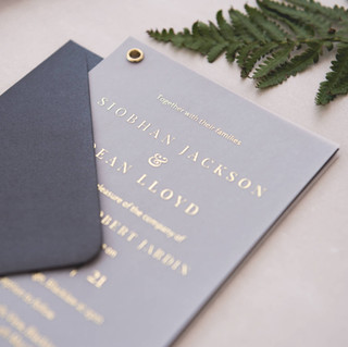 handmade vellum foil wedding invite luxury personalised scotland