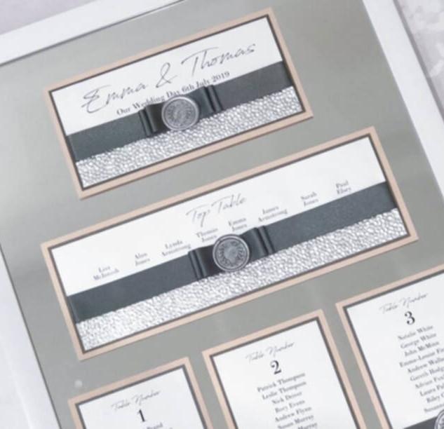 coordinating luxury wax seal table plan handmade in scotland