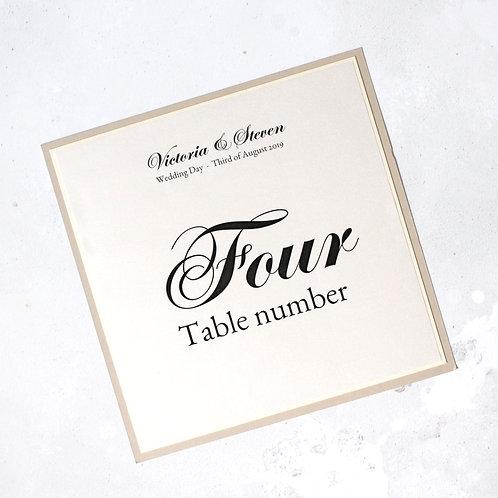 Lindsay Table Number - Elegant