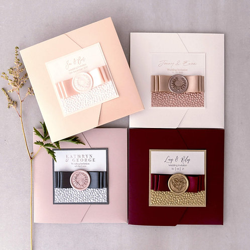 colourful wedding stationery pocketfold wax seals aberdeen