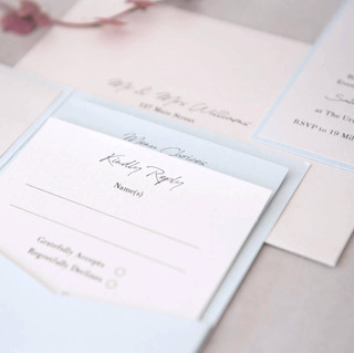 handmade wedding invite pocketfold RVSP card details