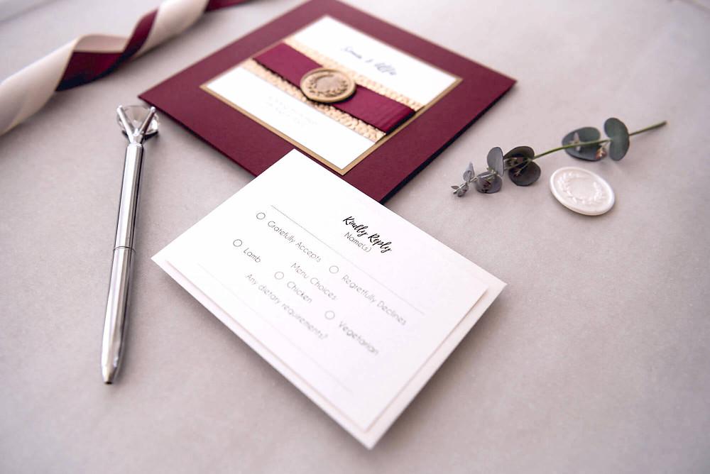 rsvp card luxury wedding invitations glasgow