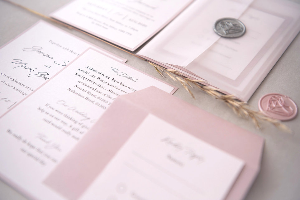 vellum wrap luxury handmade wedding invi