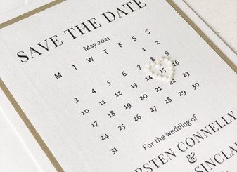 Save the Date cards - Should they match your wedding colours? Why Kirsten and Grant went neutral.
