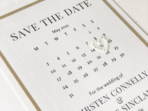 Save the Dates- Should they match your wedding colours? Why Kirsten and Grant went neutral.