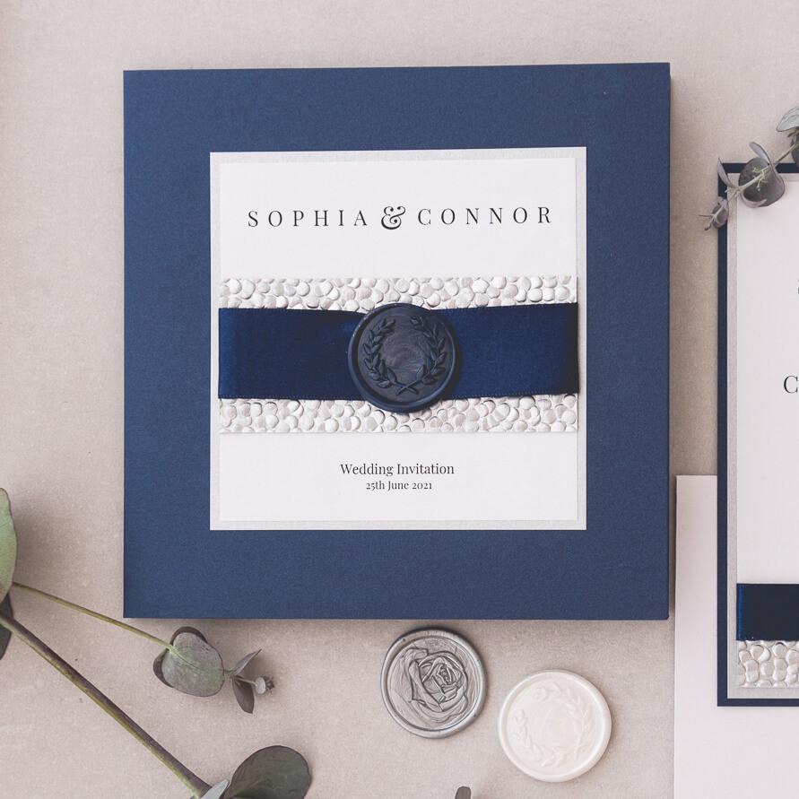 Stacey luxury personalised wedding invite wax seals edinburgh