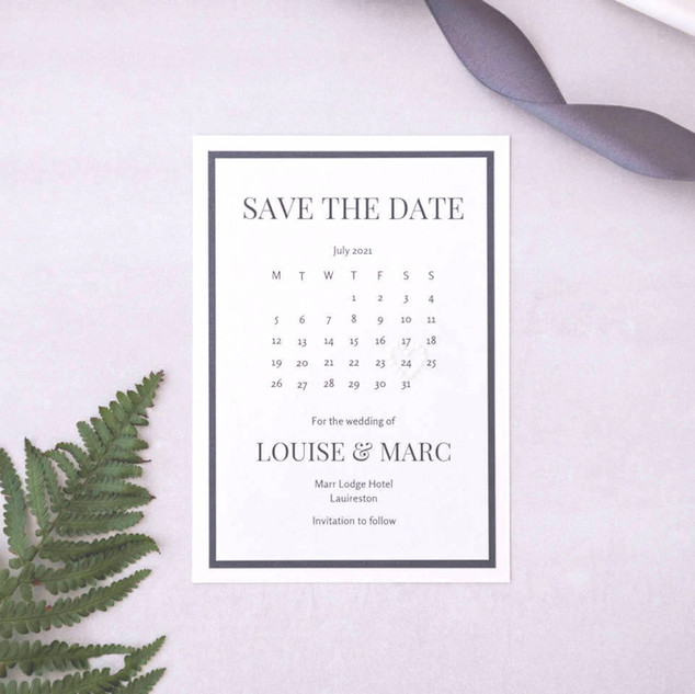 luxury personalised handmade wedding stationery save the date cards