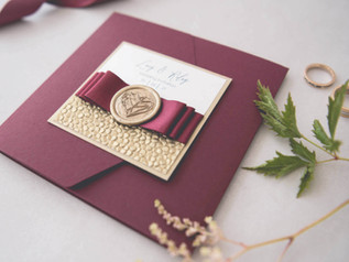 Wedding Colour Schemes - Autumnal Burgundy Wedding Invitations