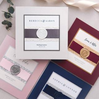 luxury wax seal wedding stationery scotland