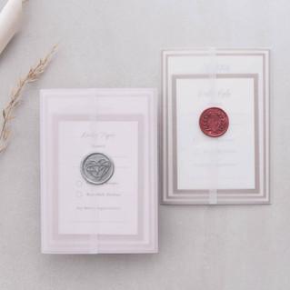 vellum wedding invites luxury handmade wax seal wedding stationery scotland