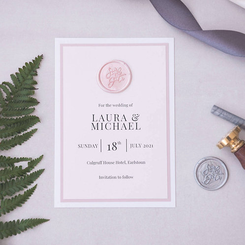 SAVE THE DATES - WAX SEAL