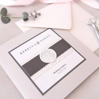 handmade luxury winter wedding invitation glasgow