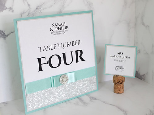 Ailsa Table Number - Sophisticated