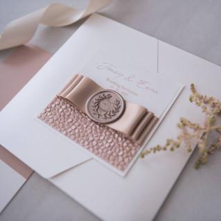 personalised rose gold foil luxury handmade wedding invitation aberdeen