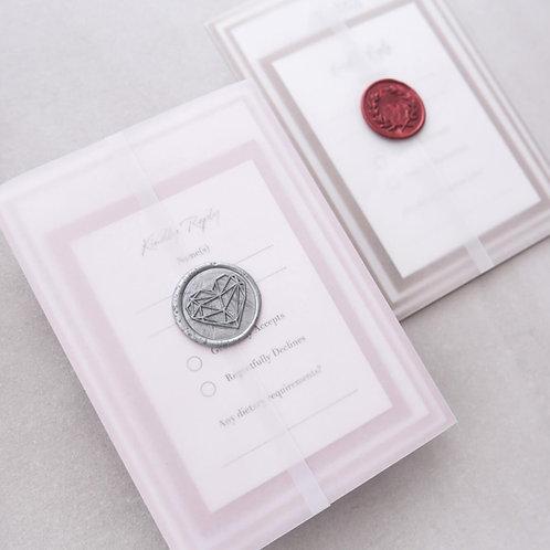 luxury vellum wrap layered handmade wedding invitations scotland