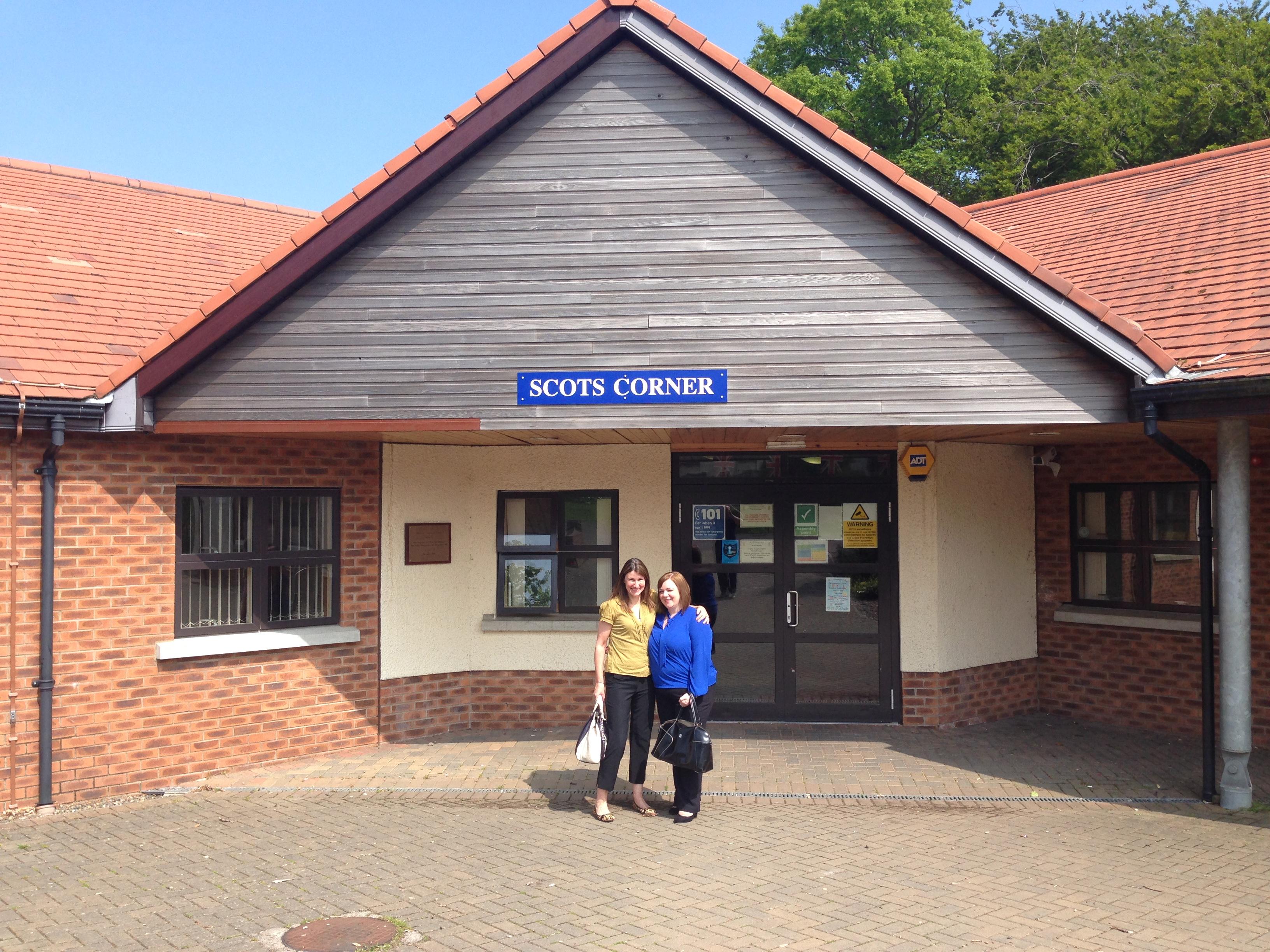 Carrie & Jen visit Scots Corner