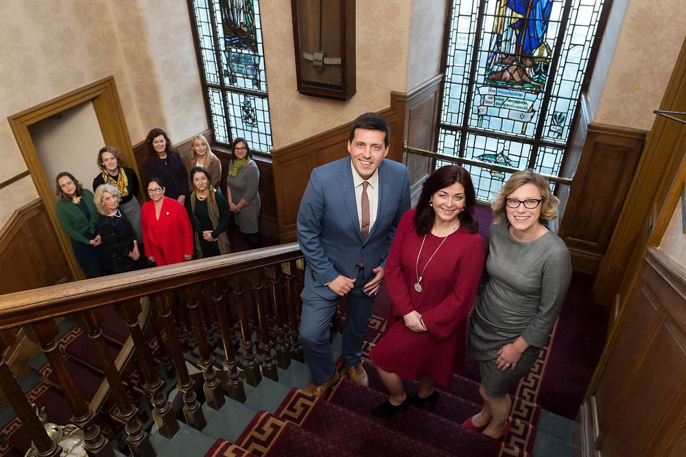 Jamie Hepburn MSP, Lynne Cadenhead, Gillian Martin MSP with WES Ambassadors for new CPG