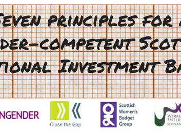 Seven Principles for a Gender-Competent Scottish National Investment Bank