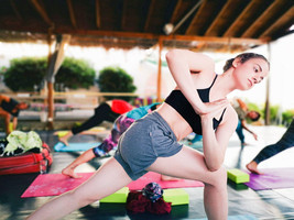 yoga at the egg