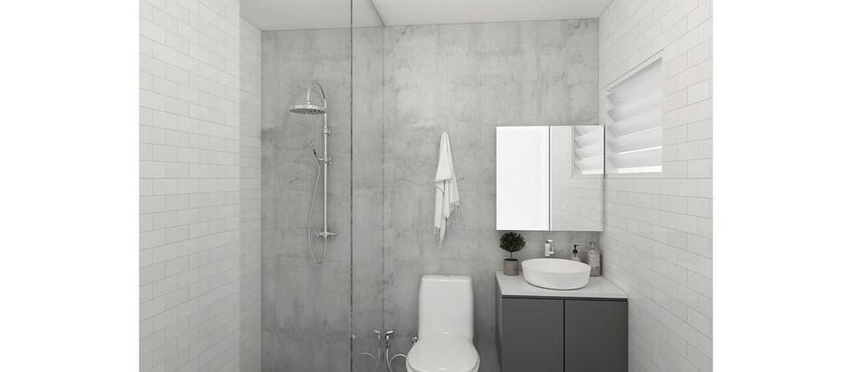Residential: Master Bathroom & Kitchen Interior Design @ Choa Chu Kang