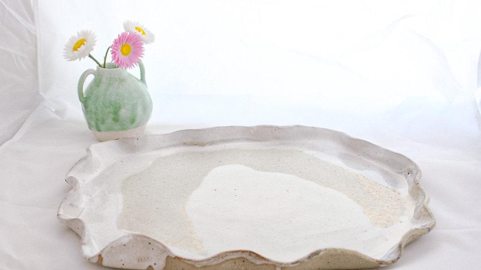 Handmade Platter - Sea Pearl