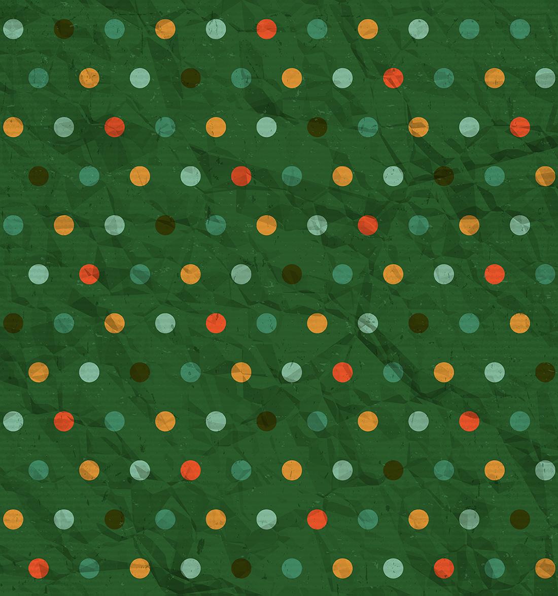 Crumpled Polka Dot Paper