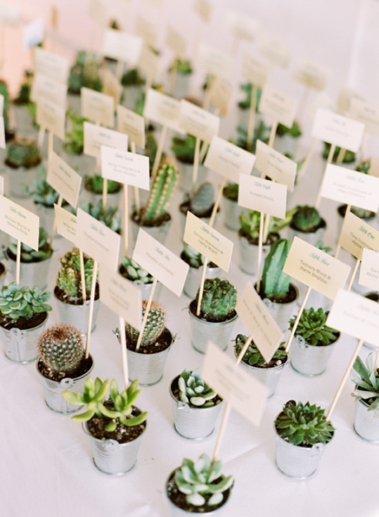 Tracey Reynolds Floral Design, Succulent Place Settings