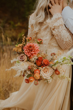 boho bouquet, dried flowers