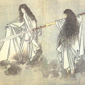 Il mito giapponese di Izanami e Izanagi.  La dea Amaterasu.