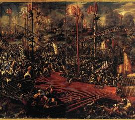 La battaglia di Lepanto 1571.