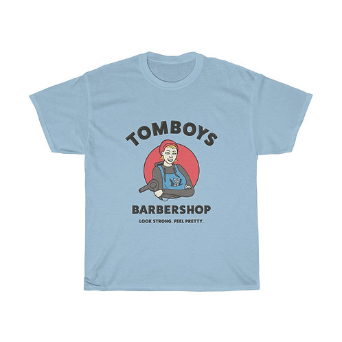 Tomboys Barbershop Red Logo Unisex Heavy Cotton Tee