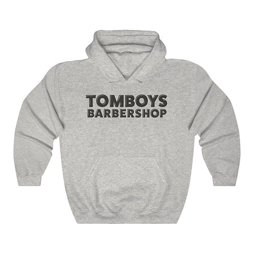 Tomboys Barbershop Basic Logo Unisex Heavy Blend™ Hooded Sweatshirt