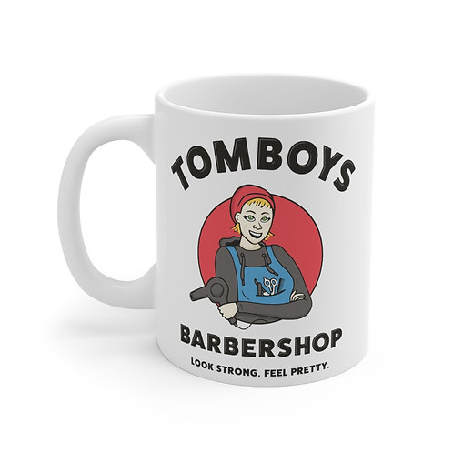 Tomboys Barbershop Red Logo Coffee Mug 11oz