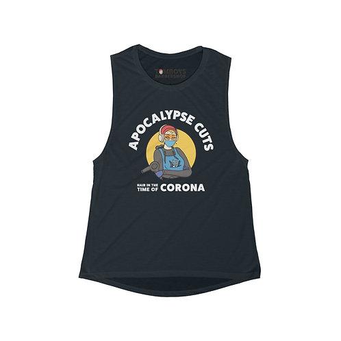 Apocalypse Cuts Corona Covid-19 Women's Flowy Scoop Muscle Tank