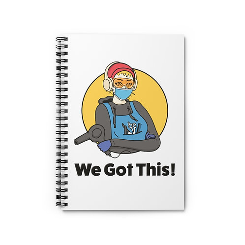 We Got This! Sunny D the Barber Fundraiser Spiral Notebook - Ruled Line