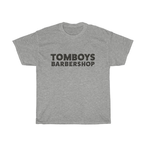 Tomboys Barbershop Plain Logo Unisex Heavy Cotton Tee
