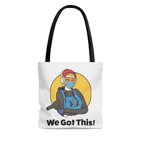 We Got This! Sunny D the Barber Fundraiser AOP Tote Bag