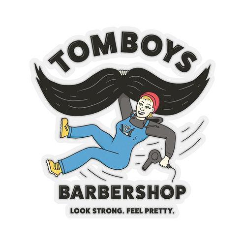 Tomboys Barbershop Kiss-Cut Stickers